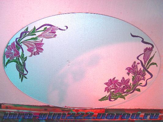 Роспись на зеркале своими руками фото